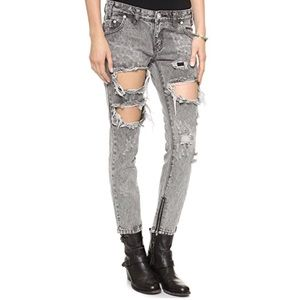 ONE TEASPOON Trashed Free Birds Distressed Jeans!
